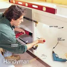best screws for attaching cabinets together frameless kitchen cabinets family handyman