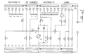 sanwa 320 x analogue multimeter schematic diagram click on
