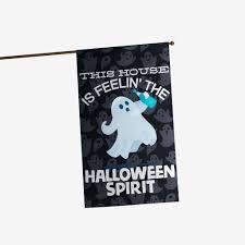 halloween house flags feelin u0027 the halloween spirit flag mostly pillows