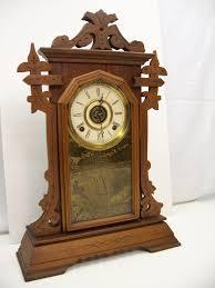 Mantel Clocks Antique Walnut Gingerbread Mantel Clock
