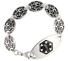 medical id bracelets for women lauren u0027s hope stainless steel antique gate womens medical id
