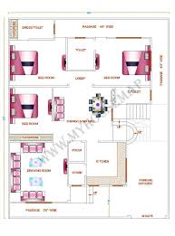3d 3 Bedroom House Plans 10 Marla House Design Moreover 30x40 House Layout Plan As Well 3d