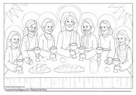 Jesus And Children Colouring Page Last Supper Coloring Page