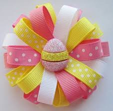 easter hair bows easter hair bows ideas yellow easter egg loopy hair bow
