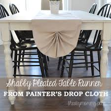 shabby chic table runner sew a shabby chic pleated table runner from a drop cloth the diy