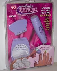 salon express nail art stamping kit vide albui