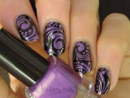 purple and black nail art break rules not nails