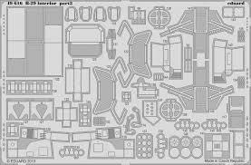 B 29 Interior 1 48 Eduard B 29 Interior Self Adhesive Color Detail Set Eu49616