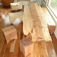 Slab Dining Room Table Wood Slab Dining Table Live Edge