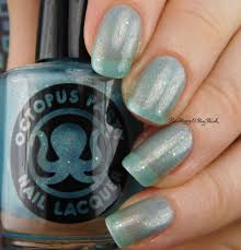 silhouette manicure with octopus party nail lacquer painted