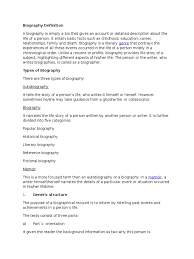 biography definition biography text biography languages
