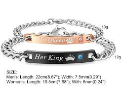 bracelet stainless steel images Couple king queen bracelet stainless steel shopping express ph jpg