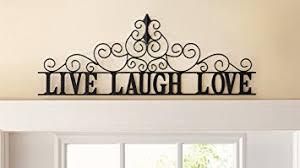 Love Laugh Live Amazon Com Scrolling Live Laugh Love Metal Wall Art Home U0026 Kitchen