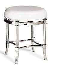 spectacular deal on bailey vanity stool chrome with white faux