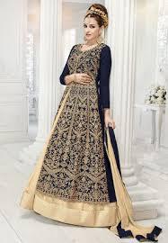 buy blue color lehenga choli and designs online shopping