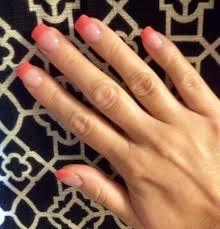 coral nail tips acrylic nail color inspiration pinterest