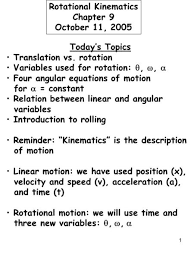 rotational kinematics ppt