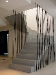 garde corps bois escalier interieur garde corp design