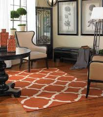 Modern Orange Rugs by Interior Grey Hairy Modern Area Rugs For Living Room With White
