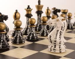 purling london u0027s latest art chess set celebrates another art form