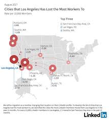 new yorkers are fleeing to los angeles in droves study shows