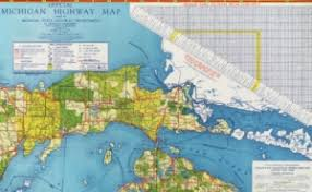 official state highway map of michigan 1942 the newberry