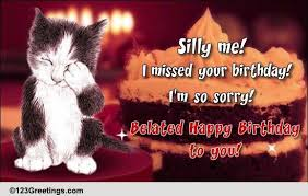 template free birthday ecards singing cats with free birthday belated wishes cards free birthday belated wishes wishes