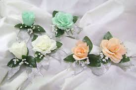 corsages for prom mint ivory silver open bud boutonniere corsage prom