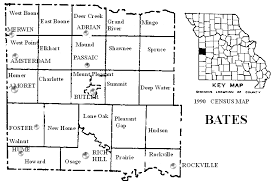 bates map bates county missouri maps and gazetteers