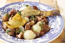 cuisine pintade cuisses de pintade aux châtaignes et aux oignons grelots