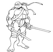 ninja turtles coloring pages printables leonardo ninja