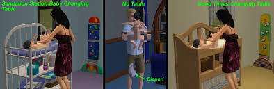 Toddler Changing Table Mod The Sims Dress Toddlers Correctly Too