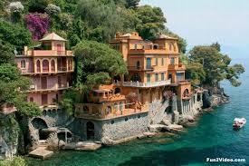 likeable beach houses in portofino village genoa italy