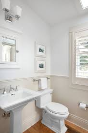 Paint Colors For Powder Room - neutral paint colors powder room traditional with slanted ceiling