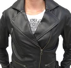 genuine leather motorcycle jacket womens stylish black fashion lambskin leather biker jacket item