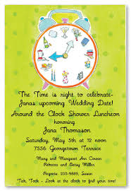 around the clock bridal shower clock wedding wedding shower invitations 2967