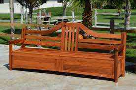 Patio Bench With Storage by Redwood Storage Bench Custom Outdoor Wooden Storage