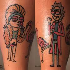 here is my new miami rick and morty tattoo rickandmorty