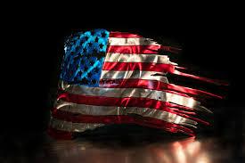 American Battle Flag Tattered American Flag American Flag Wall Art Metal Flag