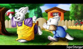 Backyard Cartoon Max And Ruby Playing In The Backyard By Supersmurgger On Deviantart