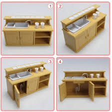pretend kitchen furniture 1 12 miniature home furniture mini kitchen room set dolls