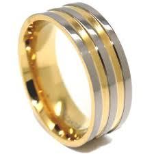 mens wedding band designers 8mm titanium gold wedding ring men s wedding rings men s
