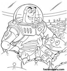 printabel coloring pages toy story 3 buzz cartoon