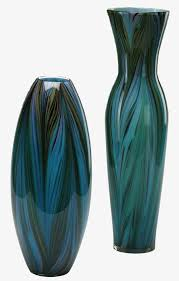 Wicker Floor Vase Peacock Feather Vase Cyan Design Interiordecorating