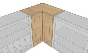 How To Build Kitchen Cabinets Doors Ana White Wall Corner Pie Cut Kitchen Cabinet Diy Projects