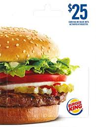 fast food gift cards burger king 25 gift cards