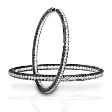 black diamond hoop earrings fashion trends hoop earrings king jewelers
