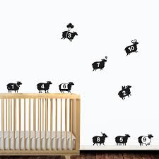 pigs might fly wall sticker set fun piggy wall decor counting sheep wall sticker se