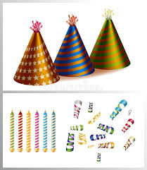 party items birthday party items stock illustration illustration of event 6611821