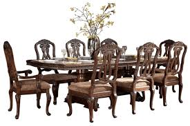 Furniture Stores Dining Room Sets Formal Dining Set With Extendable Pedestal Table By Ashley
